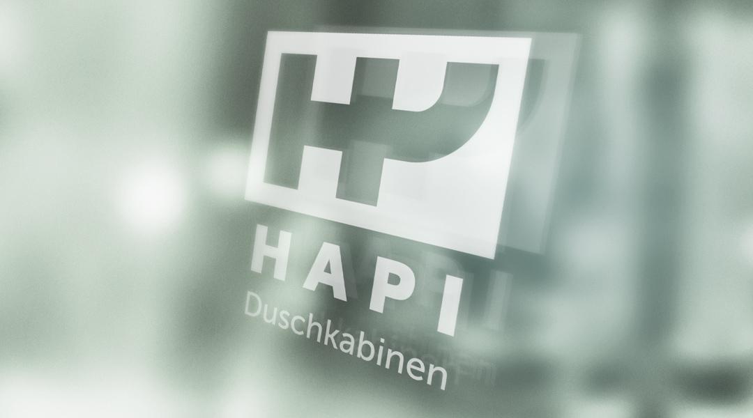 Hapi Duschkabinen logo branding