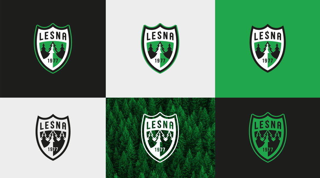 LKS Leśna logo branding