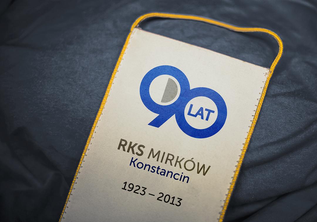RKS Mirków 90-years anniversary logo