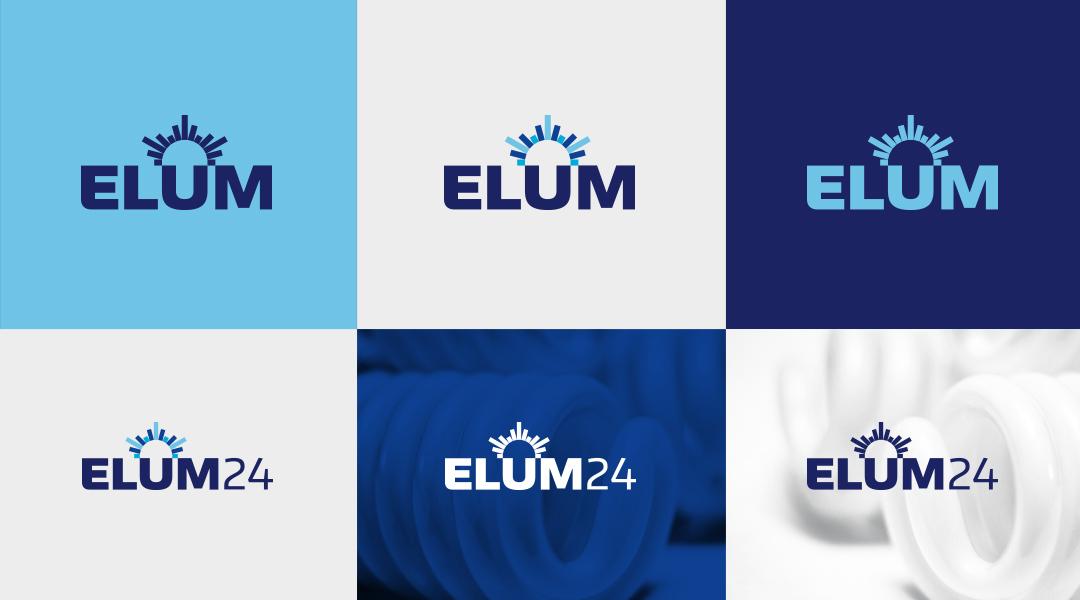 Elum24 logo branding