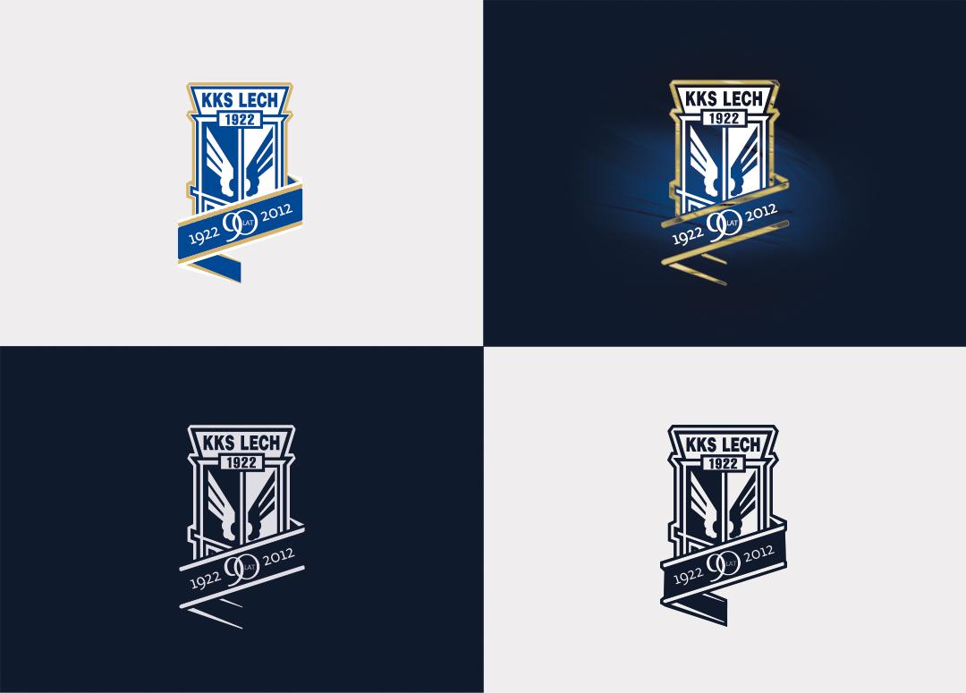 Lech Poznan logo 90-yeras anniversary