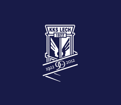 Lech Poznan 90 years anniversary logo design by Kuba Malicki