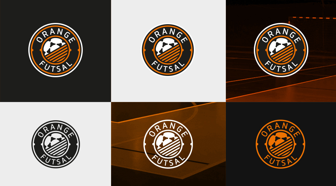 Orange Futsal logo design