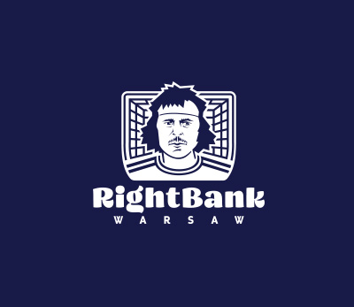 Right Bank Warsaw logo design by Kuba Malicki