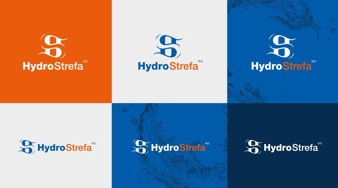 Hydro-Strefa logo branding