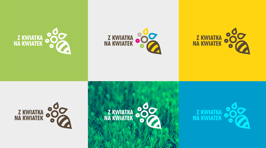 Z kwiatka na kwiatek logo brandng