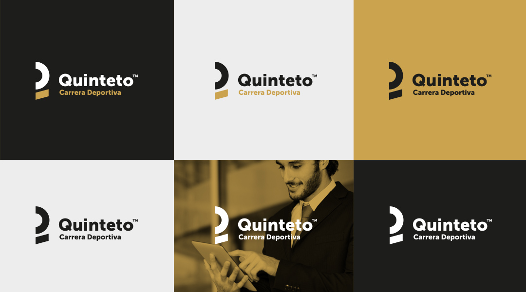 Quinteto Sports Management logo design