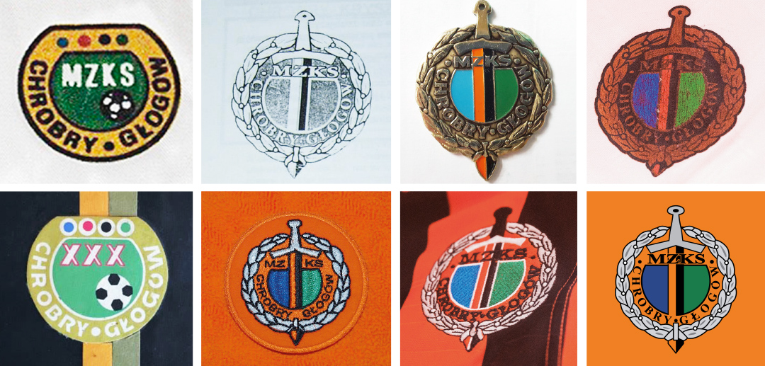 Chrobry Głogów logo design