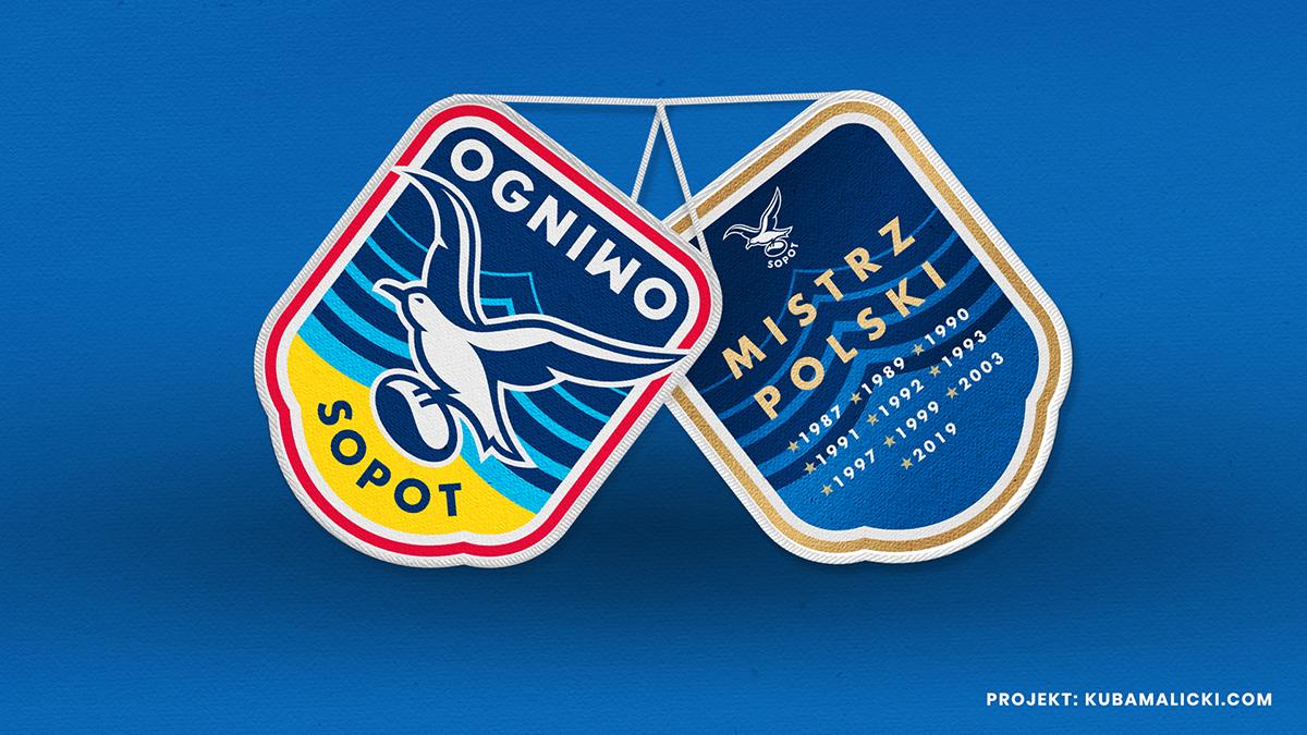 Ogniwo Sopot new logo rugby team
