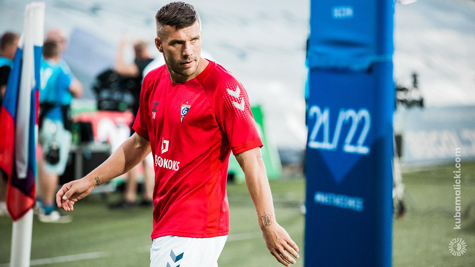 Górnik Zabrze - Lech Poznań, Podolski w Ekstraklasie, foto: Kuba Malicki