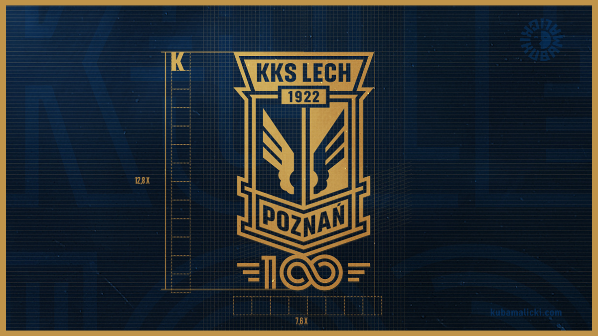 Herb 100-lecia KKS Lech Poznań